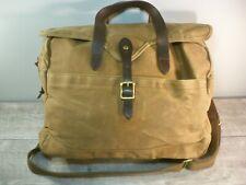 New With Tags J Crew Abingdon Cotton Leather Messenger Bag Laptop Carry Shoulder