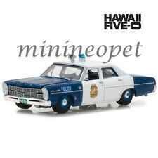 GREENLIGHT 44800 A HAWAII FIVE-0 1967 FORD CUSTOM 500 POLICE CAR 1/64 BLUE WHITE
