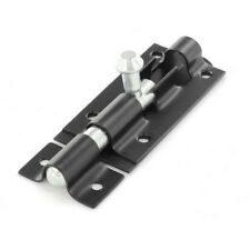 Tower Bolt- Door Lock Sliding Latch 75mm Securit Black