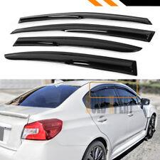 FOR 2012-2016 SUBARU IMPREZA BASE 4DR 3D WAVY WINDOW VISOR RAIN GUARD DEFLECTOR