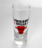 "Chicago Bulls COLLECTORS 4"" Tall Shot Glass NEW Perfect Lettering NICE Display"