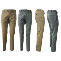 Pantalone Uomo LUIGI BIANCHI in gabardina leggera 8415 98% cotone 2% elastane