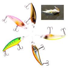 79mm Laser Wobblers Fishing Tackle 3D Eyes Sinking Minnow Fishing Bait Lure Hook