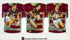 2009 Select NRL Classic Holofoil Jersey Die Cut Card Team Set Manly (6)