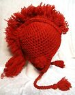 Handmade Wool Men's Unisex Peruvian Style Ski Mohawk Beanie Trooper Trapper Hat