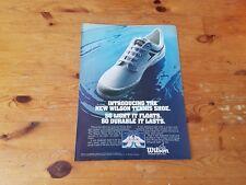 Advertising American Pubblicità * TENNIS *  WILSON SHOES type 1 ( 1978 )