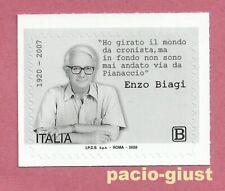 Italia 2020  ENZO BIAGI  Francobollo singolo