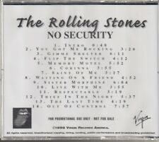 the rolling stones no security cd promo