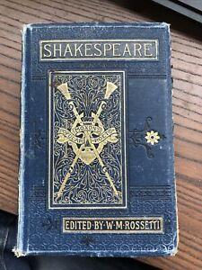SHAKESPEARE Complete Works William M Rossetti Hardback Ward Lock Antiquarian