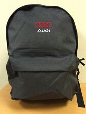 embroidered audi logo 2 tone backpack
