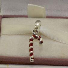 "AUTHENTIC PANDORA CHARM ""Candy cane, red enamel, 791193en09  #552"