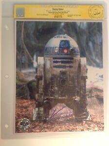 CGC SS Star Wars Empire Strikes Back R2-D2 Kenny Baker signed photo Celebration