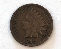 LOOK_KEY DATE- 1908-S,  INDIAN HEAD PENNY NICE CHOCOLATE PATINA- SEE OTHER COINS
