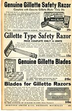 1935 small Print Ad of Gillette Safety Razor & Blue Blades