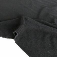 2m schwarzer Sweatshirt-Jersey warmer JerseyStoff elastischer Baumwollstoff