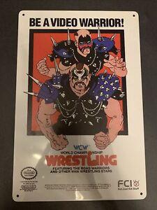 road warriors Tin Sign Wcw Wwf The Legion Of Doom Ljn Elite Mattel Jakks Custom