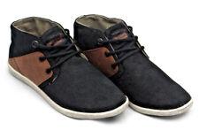 Auténtico CREEKS Niños Negro Marrón Botines Chukka Zapatos zapatillas de moda