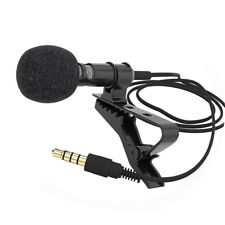 Clip-on Lapel Mini Lavalier Mic Microphone 3.5mm for Mobile Phone PC Recording F