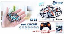 DRONE MINI FINECO FX-26 HEADLESS GIROSCOPIO 360° FLIP +RICAMBI facile da manovra