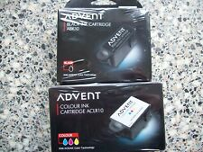 Genuine Advent ABK10 and ACLR10 Ink cartridges (1 x Black and 1 x Colour)