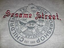 Vtg. /New Sesame Street Large Gray Sweatshirt Made In Usa