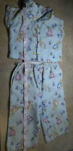 VINTAGE! Cotton FLANNEL Pajamas 6 month? Composition or Hard Plastic  BABY DOLL