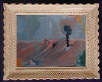 Tableau huile toile paysage fauviste  dlg Ambrogiani