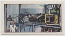 Cyclotron Accelerating Charged Particles Nuclear Science Vintage Ad Trade Card