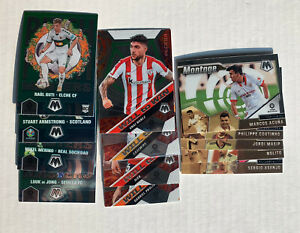 13x 2021 Mosaic Soccer Insert Lot Pitch Masters/Will to Win/Montage - de Jong+
