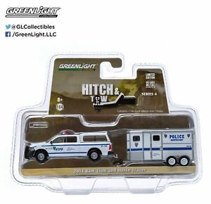 1:64 GreenLight - Hitch & Tow S4 - 2014 Ram 1500 & Horse Trailer - NYPD