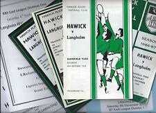 1978-2018 HAWICK & HAWICK LINDEN v LANGHOLM, 12 programmes