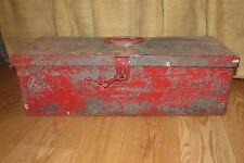 Vintage Metal 1940 Red Wuest Bros. Inc. Metal Toolbox #2560