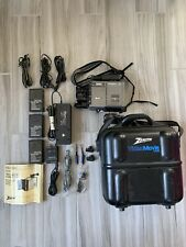 Vintage Zenith Video Movie Compact Vhs Camcorder Vm6000 w/Hard Case Accessories