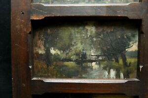 Tableau - ensemble de 5 huiles sur panneau avec cadre. Fin XIX es Boudin