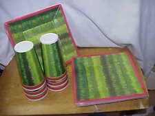 GOURMET HOME WATERMELLON DESIGN DECOR 8 PLATES & 6 TUMBLERS