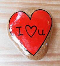Hand painted rocks, stones, pebbles. Pebble art, Love heart, gift idea