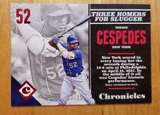 Yoenis Cespedes 2017 Panini Chronicles Red Baseball Card 13/25