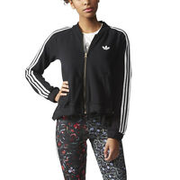 Adidas Women's Moscow Mix Logo Track Jacket Black AB2706 NEW!