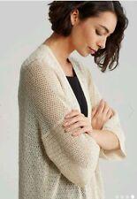 NWT Eileen Fisher  ECRU Cotton Blend Kimono Long Cardigan Size S MSRP $198