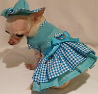 Harness dress set/Dog Dress/Dog Clothes/Puppy Love Set-/SIZE-XS,S,M,L -FREE SHIP
