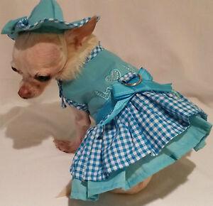 Harness dress set/Dog Dress/Dog Clothes/Puppy Love Set-/SIZE-XS,S,M,L -FREE SHIP