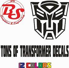 """6"""" TRANSFORMER Vinyl Decal decepticon dinobot nerd maximal Window Sticker noBS"""