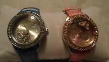 $10 EA 6 BUTTERFLY FLOATING CHRYSTAL WATCHES STRADA JAPANESE QUARTZ MOVEMENT