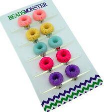 Color Doughnut Set, Clip On Earrings Gift for Teen Girls Kids Princess Daughter