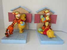 Extremely Rare! Disney Winnie the Pooh Playing with Tigger Bookends Statue Set