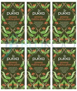 Pukka Gingseng Matcha Green - 20 Teabags (Pack of 6)
