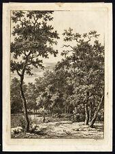 Antique Master Print-LANDSCAPE-FOREST-ANGLER-Bagelaar-ca. 1800