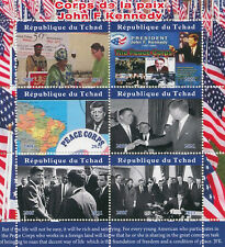 Chad 2021 CTO JFK Stamps John F Kennedy Joins Peace Corps US Presidents 6v M/S