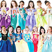 Disney Princess Girls Fancy Dress Fairytale Book Week Kids Childrens Costumes