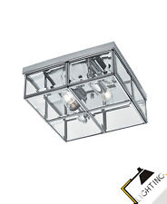 Lámpara de Techo la Pared 25Cm Cristal Cromo Metal Iklusive Led
